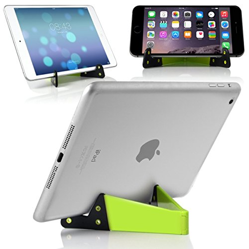 Seluxion–Green Pocket Foldable Universal Stand for Tablets and Smartphones Ipad Air 5432Pro iPhone 44s 55s 5°C 66S 6+