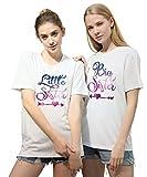 Best Friends - Camisetas para dos mujeres BFF para dos hermanas, mejores amigas, 100% algodón, 2 unidades Sky-wei?-big S