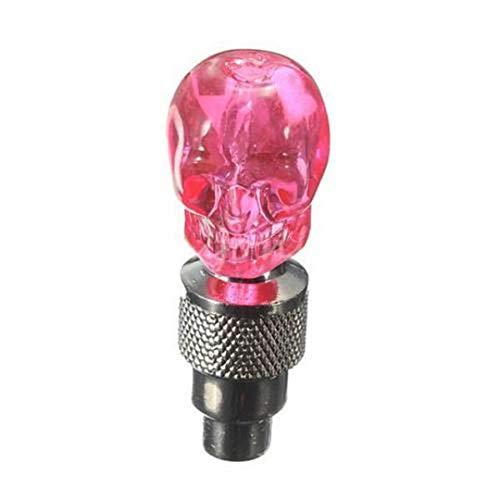 Bombilla de luz LED de neón con Forma de Calavera para Motocicleta y Bicicleta multifunción 2 uds Pink