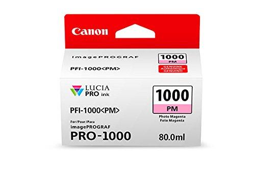 Canon Tintenpatrone PFI-1000 PM Fotomagenta 80 ml ORIGINAL für imagePROGRAF PRO-1000