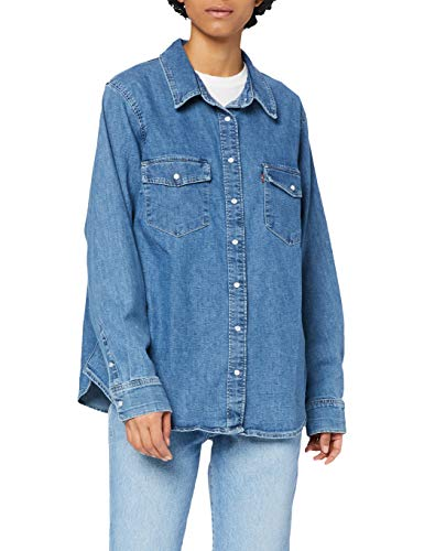 Levi's Plus Size PL Essential Western Camisa, Going Steady (4), 1 X para Mujer