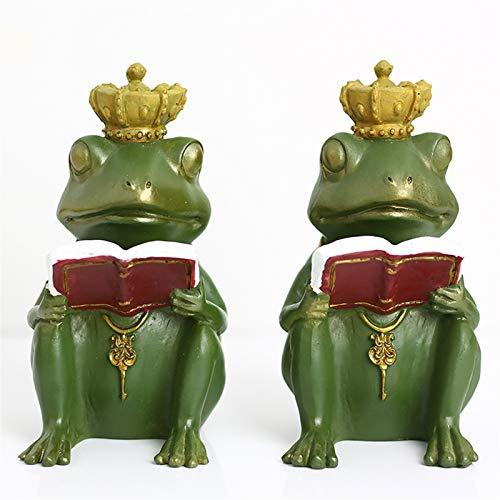 HYAN Sujetalibros Bookends Decorative Frog Prince Book Finaliza los Soportes de Bookend de Servicio Pesado para la Biblioteca de Libros Escuela Oficina de la Oficina Regalos Estantes