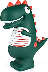 7. YANHU Cartoon Green Shatterproof Dinosaur Piggy Bank