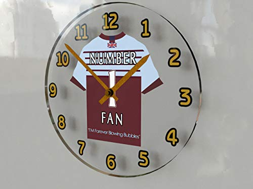 MyShirt123 West Ham United FC Football Orologio - West Ham Number One Fan Orologio da Parete - Il per Qualsiasi Fan di martelli.