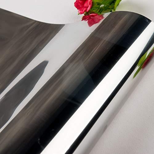 40/50/60/70/80 * 200/500 cm One Way Mirror Película de ventana Auto adhesivo Pegatinas de vidrio UV Reflectante Transferencia de calor Vinilo Película solar ( Color : Two Silver , Size : 50x500cm )