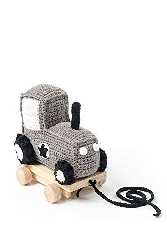 Smallstuff - Nachziehspielzeug - Traktor, Trecker - grau - Länge: ca. 19 cm