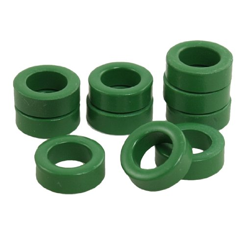 Uxcell a12022900ux0327 Power Transformer Ferrite Toroid Cores (Pack of 10),green