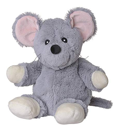 Welliebellies Wärmekuscheltier für Kinder - Wärmekissen gegen Schmerzen und zum Wohlfühlen - Wohltuender Kräuterduft durch Rosmarin und Lavendel, Eukalyptus & Pfefferminz - groß (Maus)