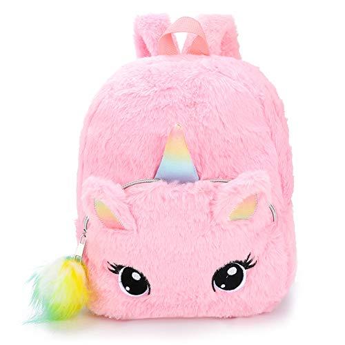Cute Plush Unicorn Backpack,BETOY Unicorn Backpack Girl Fashion Sequins/Plush Cartoon Cute Schoolbag Travel Backpack
