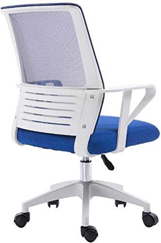 Silla de juegos de oficina, silla de videojuegos, silla de ordenador, silla de escritorio, respaldo transpirable, silla de aprendizaje, rotación de elevación, peso de 150 kg – 47127W8T6R (color: azul)