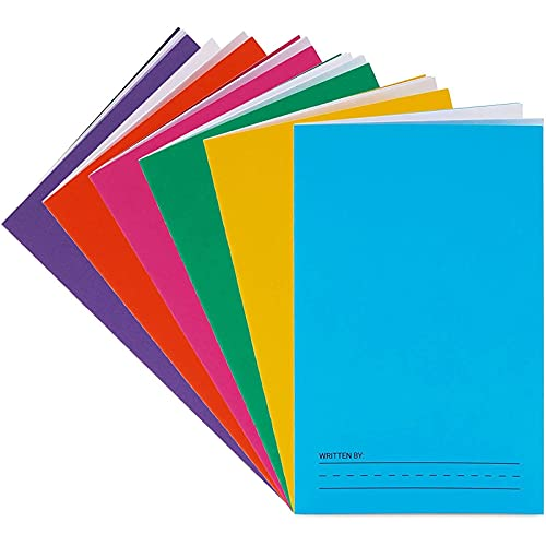 Bright Creations Blank Story Books for Kids, Paperback, Story Lined (6 Colors, 5.5 x 8.5 in, 6 Pack)