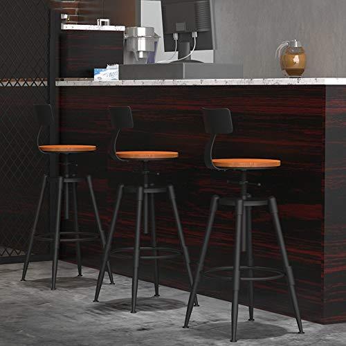 YIZ Stoelen Modern Meubilair Bar Kruk grenenhout Verstelbare Hoogte Draaibaar Industriële Stijl C