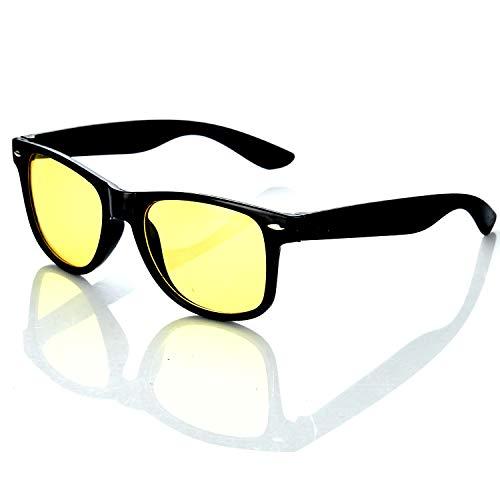 HAC24 Nachtfahrbrille im Retro-Look Nachtsichtbrille Nachtbrille Sonnenbrille Auto Motorrad Kontrast Brille