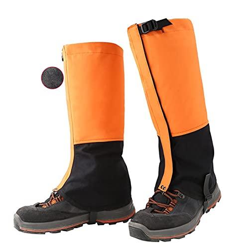 Yingbao Botas De Nieve Cálidas Impermeables Y De Terciopelo Al Aire Libre, Leggings Ajustables, Skiing Desert Jungle Senderismo Y Zapatos De Nieve De Montañismo (Color : Orange, Size : L)