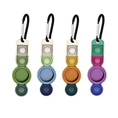 4 Pack Airtag Holder with Key Ring and Colorful...