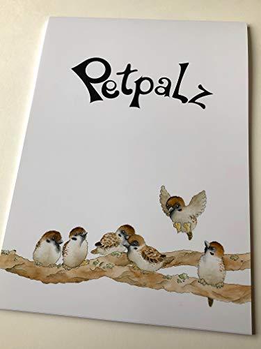 Petpalz - Briefblock Feldsperlinge, DIN A4