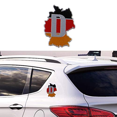 Aluminium Duitsland Kaart Auto Sticker Logo Embleem Badge voor Audi BMW VW Skoda