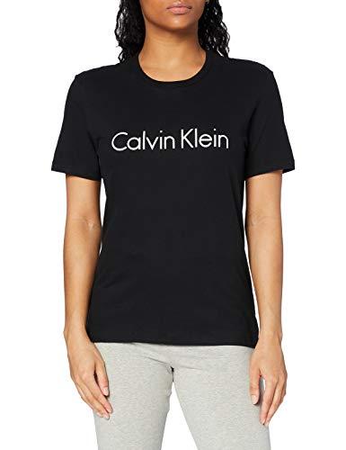 Calvin Klein S/s Crew Neck Top Pigiama, Nero (Black 001), 42 (Taglia Produttore: Small) Donna