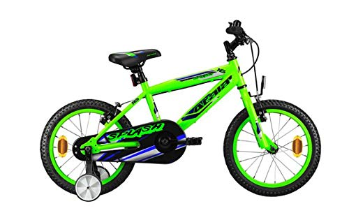 Atala Bicicletta da Bambino Splash 16', 1 velocità, Colore Verde - Blu