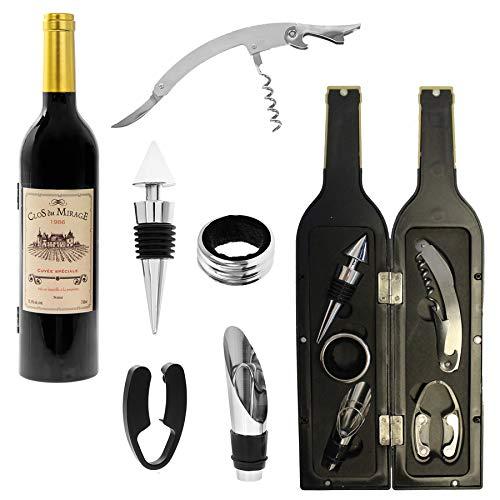 Wine Connoisseur Gift Set in fles vorm doos - goud Top witte wijnfles 4925