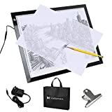 Voilamart A3 Portable Tracing Light Box, Ultra-Thin LED Light Board, Sketch Drawing Light Pad, Dimmable Brightness Light Board, 3-Level Artists Light Box with Carry Bag for Drawing Sketching Animation