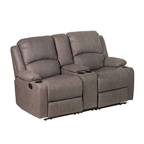 Camper Comfort 67' Wall Hugger Reclining RV   RV Theater Seats (Slate)   Double Recliner RV Sofa & Console   RV Couch   Wall Hugger Recliner   RV Theater Seating   RV Furniture