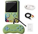 MiRUSI G5 - Console da Gioco Portatile da 3 Pollici, Stile retrò, NES FC, per Giochi e Videogiochi, 500 Giochi supportano l'uscita TV (Verde)