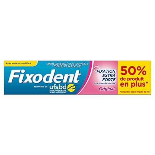 Fixodent Original - Crema adhesiva para prótesis dentales, 70,5 g