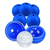 Death Star Ice Cube Mold 6 Pack Silicone Star Wars Ice Molds Sphere Big Ice Ball Maker for Whiskey, Bourbon and Cola (6)