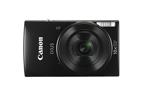 "Canon IXUS 190 - Cámara compacta de 20 MP (pantalla de 2.7"", 10X Optical Zoom, modo Smart Auto, Date Button, Easy Auto, Creative Filter, Canon Camera Connect, WiFi) negro"