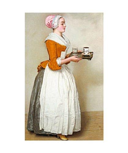 Liotard, Jean Etienne - Schokoladenmädchen - Kunstdruck Artprint Gemälde Schokoladenmädchen 50x60 cm