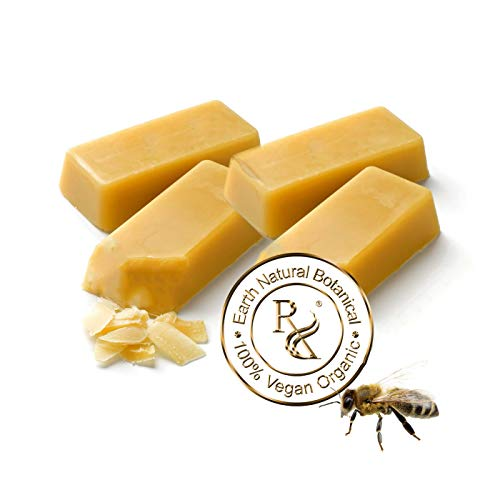 Earth Natural Botanical Beeswax | 4 (1 oz. bars or pastilles) 100% Pure Organic First Cappings Beeswax