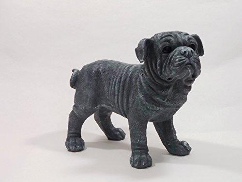 KLP Bulldogge Bull Dogge Hund Deko Garten Tier Figur Skulptur Statue Mops Terrier