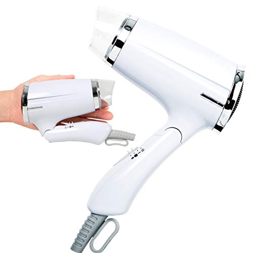 Folding Hair Dryer Compact Travel Blow Dryer AC Motor Infrared Professional Salon Hair Dryer Small Hair Blow Dryer 3 Heat Settings Lightweight Mini...