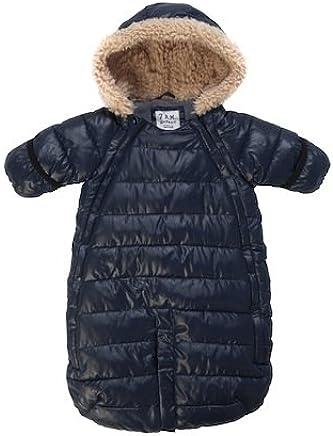 21f2ea90820 7AM Enfant Doudoune One Piece Infant Snowsuit Bunting, Midnight Blue, Medium