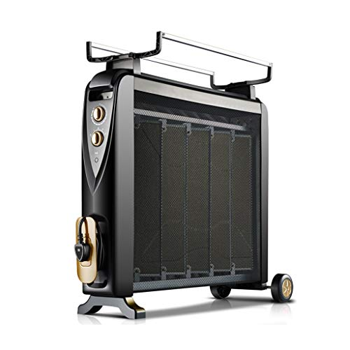 AMBH-HEATER thuis, energiebesparend, elektrische radiatorverwarming, radiator, radiator, goudkleurig zwart NQ11/14