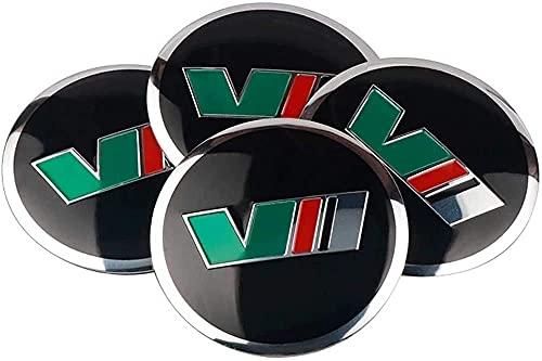 4 cubiertas de rueda, cubiertas de rueda a prueba de agua y polvo, con cubiertas de rueda de aleación de aluminio con logotipo automotriz, para Skoda Octavia Superb Fabia 56mm