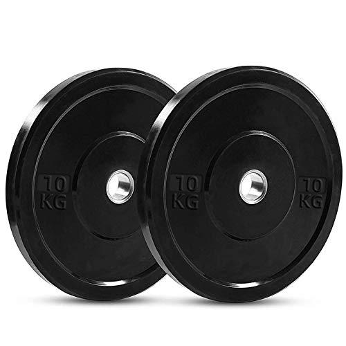 PINROYAL Bumper Plates Oplympic Weight Plates, Bumper Weight Plates, High Elastic Barbell Weighted Plates Olympic Bumper Plates for Strength Training Strength (Pair) (22)