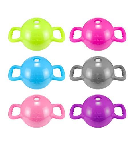 HaavPoois Kettlebell Riempiti ad Acqua, 1 Pz Donna Fitness Bollitore Bell Pilates Sports Dumbbell Equipment   Doppia Maniglia   per Allenamento di Forza e Cardio, Colore Casuale (da 2 kg a 5 kg)