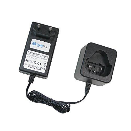 Trade-Shop 10,8V 12V Li-Ion Akku Ladegerät Ladestation ersetzt AEG LL1230 für AEG L1230 L1240 BS12C BLL12C BS12C2 BSS12C BWS12 BWS12CBWS 954932