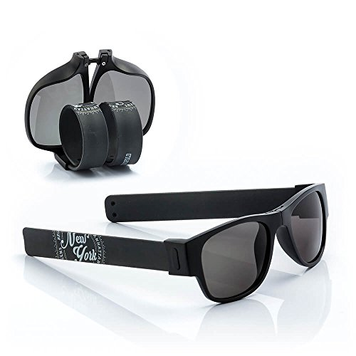 Sunfold Street Gafas de Sol Enrollables, Hombre, Negro, Talla Única