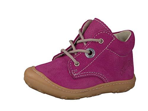 RICOSTA Pepino Mädchen Stiefel Cory, WMS: Mittel, Boots schnürstiefel Leder Kind-er Kids junior Kleinkind-er Kinder-Schuhe,pop,22 EU / 5.5 UK