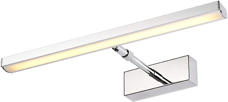 & Spiegellampen LED Bad Kosmetikspiegel Licht Lampe Arm Versenkbare Schlafzimmer Kosmetikspiegel Schrank Becken Lampe Edelstahl [Energieklasse A ++] (Farbe   B-39cm)