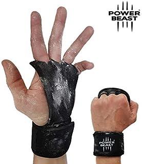Power Beast Crossfit Handschoenen | 2 in 1 Vingerloze Handschoenen en Polsbandjes | Gewichtheffen, Gym, Fitness, Calisthenics, Bodybuilding, Gewichtheffen, Domino's | Hand- en Polsbescherming. Mannen en vrouwen | 1 Paar (L)