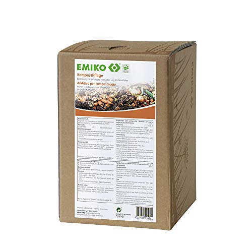 Emiko KompostPflege 5 Liter Bag in Box, flüssiger EM-Rotteförderer zur schnellen Umsetzung von Garten- und Küchenabfällen mit Nährstoffschutz