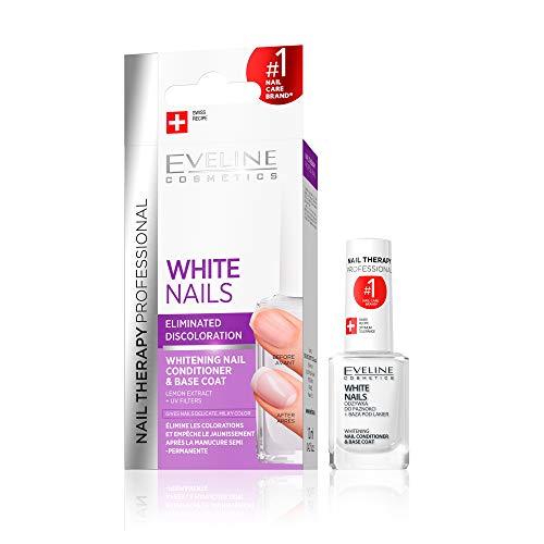 Eveline Cosmetics Repair Therapy Nagel Aufheller Aufbau Serum | 12 ml | Whitening Conditioner gegen Verfärbungen | Verhindert das Vergilben der Nägel | Schöne Maniküre