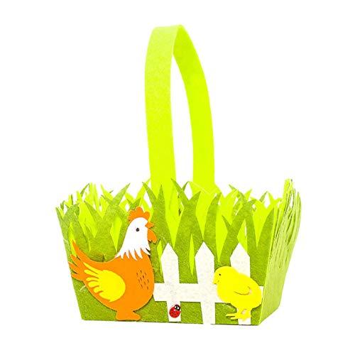 KUNMEI Cesta De Huevos De Pascua, Bolsa De Almacenamiento De Conejito De Pascua, Bolsa De Almacenamiento De Dulces De Tela No Tejida para Niños Creativos, Bolsas De Regalo Lavables para Niños