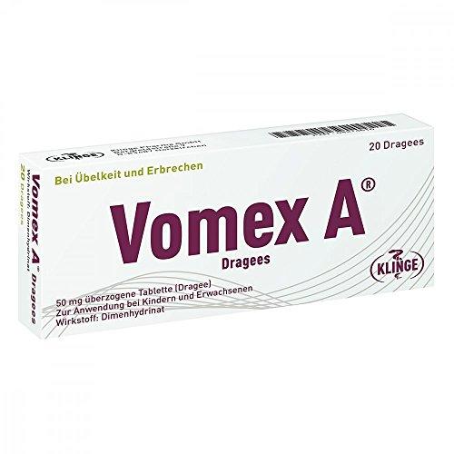Vomex A Dragees bei Übelkeit und Erbrechen, 20 Stück Tabletten