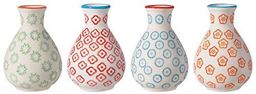 Bloomingville Vase Emma, rot blau grün orange, Keramik