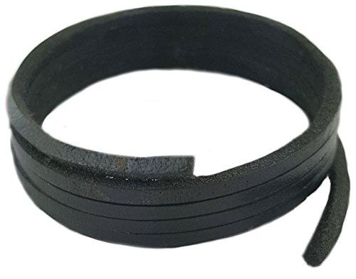 Patin et Boot lacets - Cuir noir 220cm